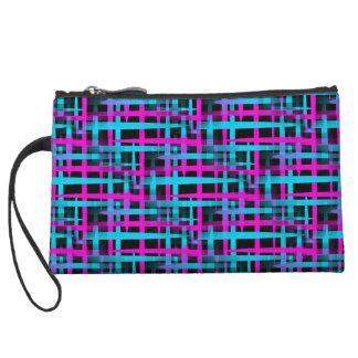 Retro Abstract Weave Pattern Wristlet Wallet