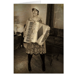 Retro Accordion Girl Cards