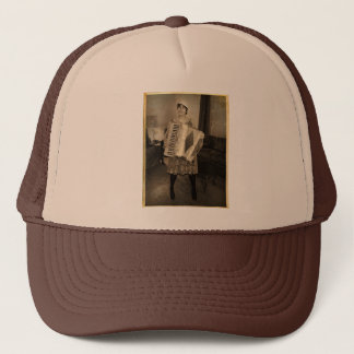 Retro Accordion Girl Trucker Hat