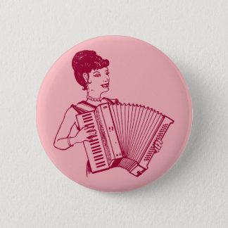 Retro Accordion Lady Button