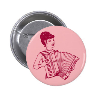 Retro Accordion Lady Buttons