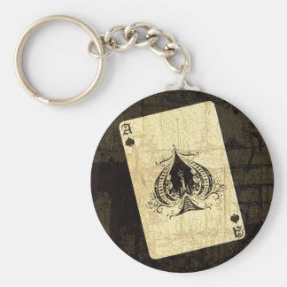 Retro Ace of Spades Keychain