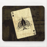Retro Ace of Spades Mouse Pad