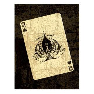 Retro Ace of Spades Postcard
