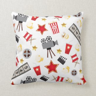 Retro Acting Movies Theatre/Theater Pillow