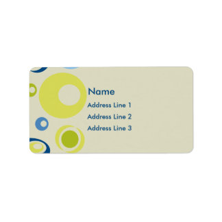 Retro Address Label