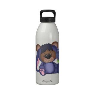 Retro Adorable Teddy Bear Reusable Water Bottle