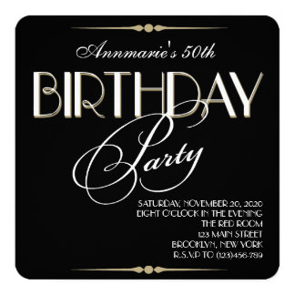 Retro Adult Birthday Party Invitation
