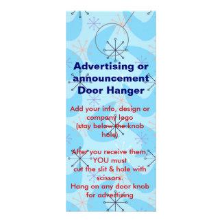 Retro Advertising DOOR HANGER promotion tags Rack Card