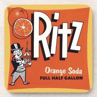 Retro Advertising Orange Soda Beverage Coaster
