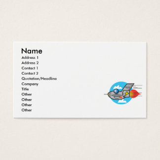 retro aeroplane jet business card