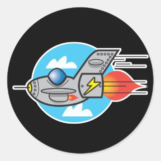 retro aeroplane jet sticker