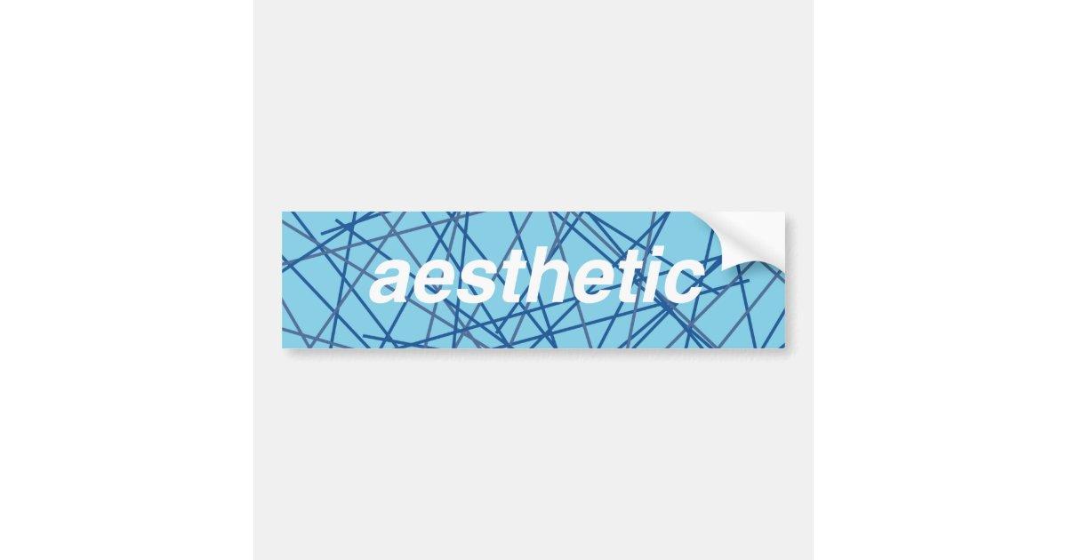 retro aesthetic bumper sticker  bumper sticker