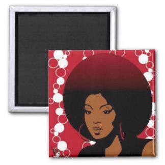Retro Afro Magnet