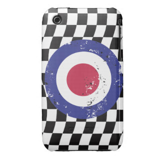 Retro Aged mod target on Checks iPhone 3 Cover
