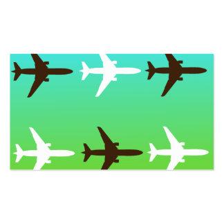 Retro Airplaine Business Card