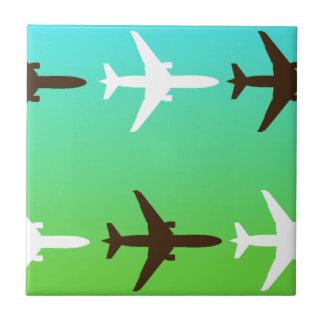Retro Airplaine Ceramic Tile