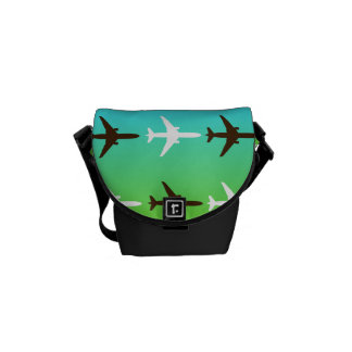 Retro Airplaine Courier Bag