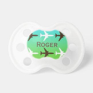 Retro Airplaine Pacifier