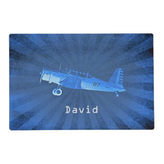 Retro Airplane #87 Personalized Placemat