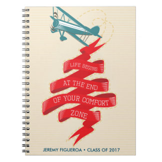 Retro Airplane Adventure Notebook