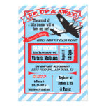 Retro Airplane Baby Shower with ticket invitation