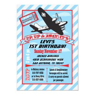 Airplane birthday invitations zazzle retro airplane birthday party invitations filmwisefo