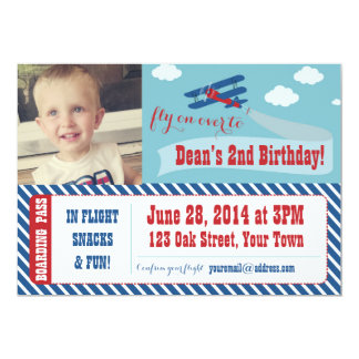 Retro Airplane Party Invitations