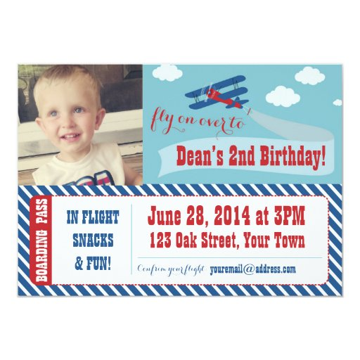 Personalized Airplane Invitations CustomInvitations4Ucom