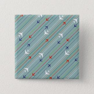 Retro Airplane Pattern Button