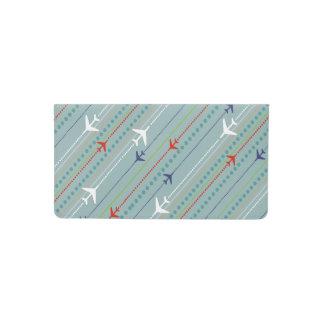 Retro Airplane Pattern Checkbook Cover