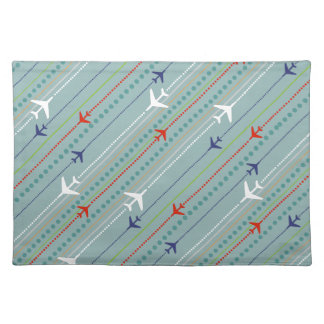 Retro Airplane Pattern Cloth Placemat