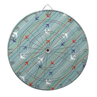 Retro Airplane Pattern Dart Board