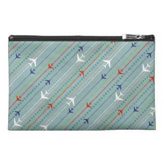 Retro Airplane Pattern Key Travel Accessory Bag