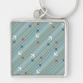 Retro Airplane Pattern Keychain