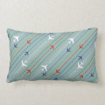 Retro Airplane Pattern Lumbar Pillow