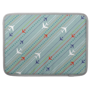 Retro Airplane Pattern MacBook Pro Sleeve