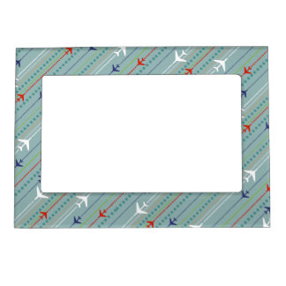 Retro Airplane Pattern Magnetic Frame