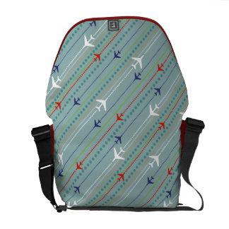 Retro Airplane Pattern Messenger Bag