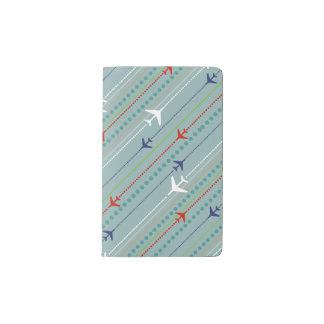 Retro Airplane Pattern Moleskine Notepad Cover