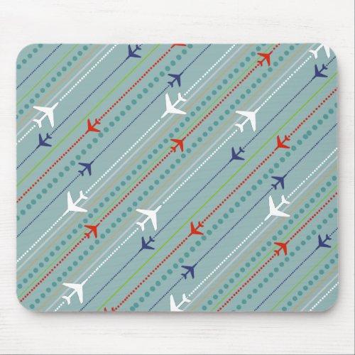 Retro Airplane Pattern Mousepad