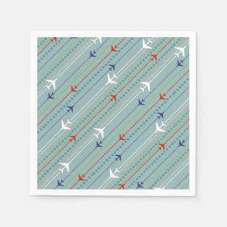 Retro Airplane Pattern Paper Napkins