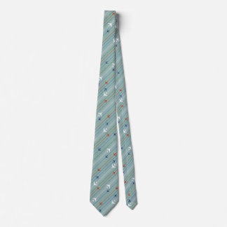 Retro Airplane Pattern Tie