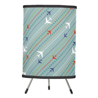 Retro Airplane Pattern Tripod Lamp