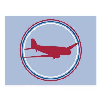 Retro Airplane Postcard