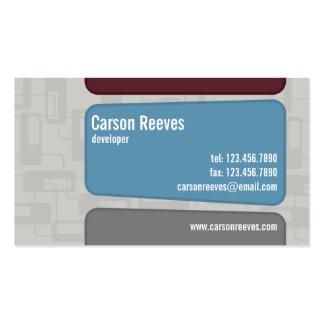 Retro ajustado - estilo 1 tarjetas de visita