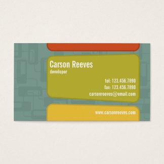 Retro ajustado - estilo 6 tarjetas de visita