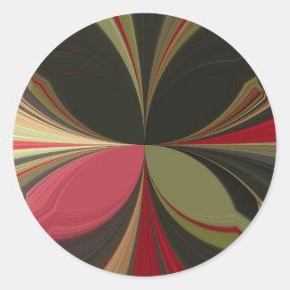 Retro Akuna Matata Gifts chic apparel Color design Classic Round Sticker