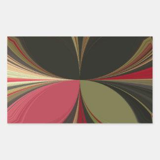 Retro Akuna Matata Gifts chic apparel Color design Rectangular Sticker