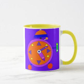 retro alarm clock mug